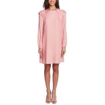 CeCe Ruffled Gingham Dress