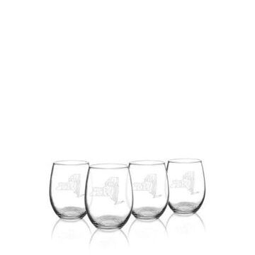 Cathy's Concepts My State Stemless Wine Glasses - New York -