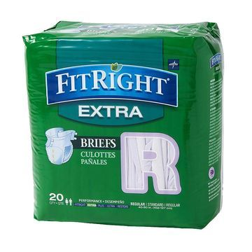Medline FitRight Extra Briefs Regular