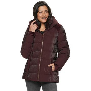 Women's ZeroXposur Ezette Shimmer Velour Quilted Puffer Jacket