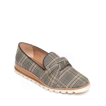 Jansen Knotted Plaid Loafers