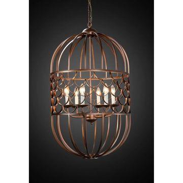 Legion Furniture 22 inch chandelier (Less than 60 Watts - Brown - Iron)
