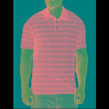 Big & Tall Harbor Bay Jacquard Stripe Polo Shirt - Blue Multi