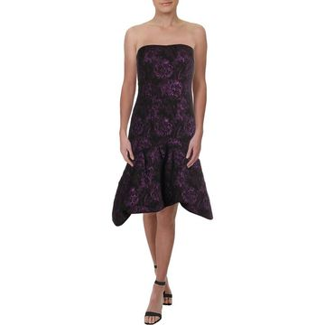 Aidan Mattox Womens Party Dress Metallic Cocktail