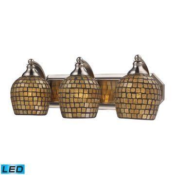 Westmore Lighting Homestead 3-Light Nickel Traditional Vanity Light Bar