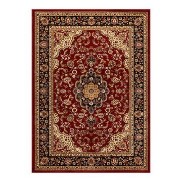 Well Woven Barclay Medallion Kashan Traditional Persian Floral Plush Area Rug, Red, 6.5X9.5OVL