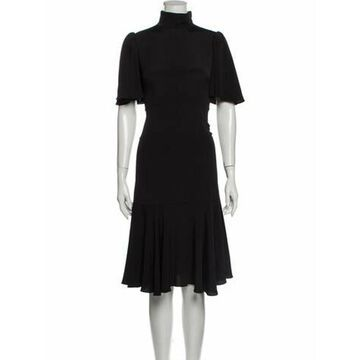 Turtleneck Midi Length Dress w/ Tags Black