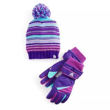Girls 4-16 ZeroXposur Beanie Hat & Gloves Set