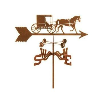 EZ Vane Amish Horse and Buggy Weathervane With Roof Mount