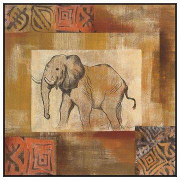 PTM Images African Animal IV Framed Canvas Art, 41.75