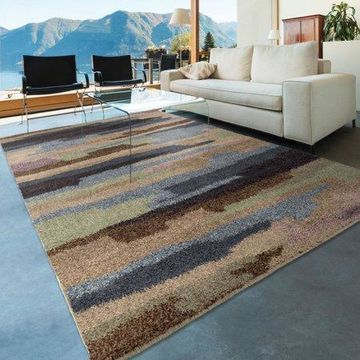 Orian Rugs Plush Scroll Blended Sky Multi-Colored Area Rug