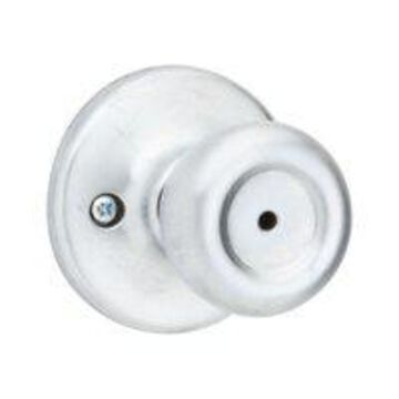 Kwikset Tylo Bed/Bath Knob in Satin Chrome
