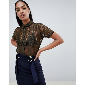 Vesper lace short sleeve shirt