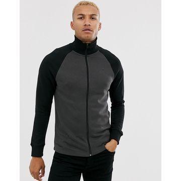 G-Star Beraw Jirgi zip through chest logo sweat in black