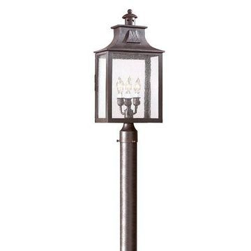 Newton Large Three-Light Outdoor Post Mount