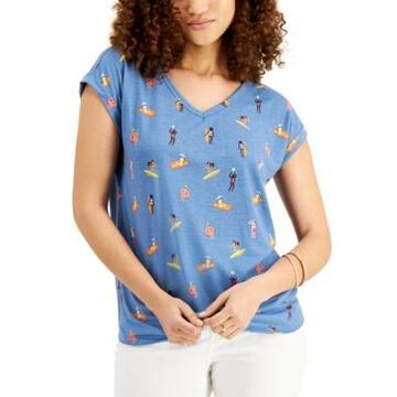 Style & Co Graphic-Print Top, Created for Macy's