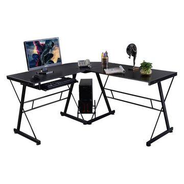 Costway L-Shape Computer Desk PC Wood Laptop Table Workstation Corner Office
