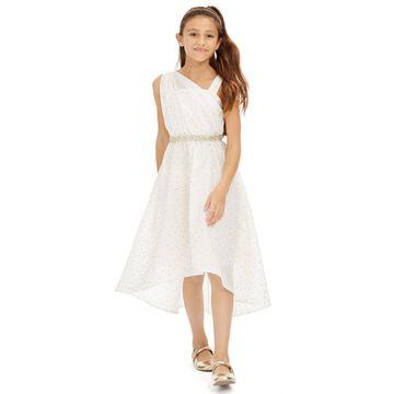 Big Girls Embellished One-Shoulder Dress