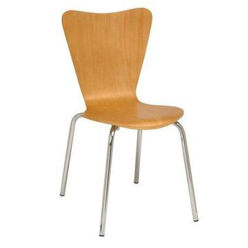 KFI Contemporary Wood Cafe Chair, Multiple Colors, Commercial Grade
