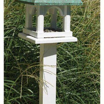 Good Directions Lazy Hill Farm Vinyl Birdhouse Post in Medium White