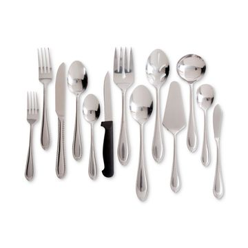 Wilmington Plus 55-Pc. Stainless Steel Flatware & Serving Set, Service for 8