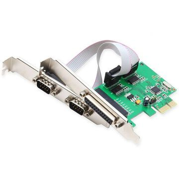 Syba SI-PEX50054 PCIe 2x Serial Ports & 1x Parallel Port Controller - NEW