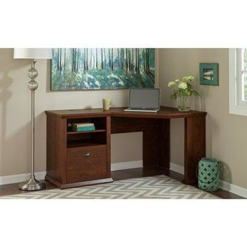 Bush Furniture Yorktown Corner Desk in Antique Cherry