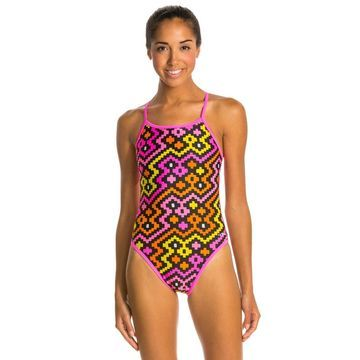 Dolfin Alero Reversible String Back One Piece Swimsuit