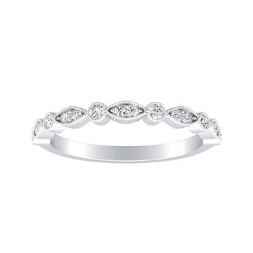 Auriya Platinum 1/6 ct. TDW Diamond Vintage Wedding Band