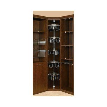 Rev-A-Shelf CLSZ-M5-96-1 CLSZ Series 5 Shelf Men's Shoe-Zen with Shaft - Chrome
