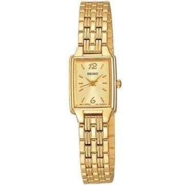 Seiko Women's Gold-Tone Bracelet Watch 16mm SXGL62