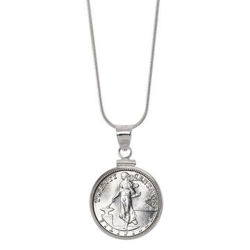 American Coin Treasures Silver Philippines 20 Centavos Sterling Silver Pendant Coin Jewelry