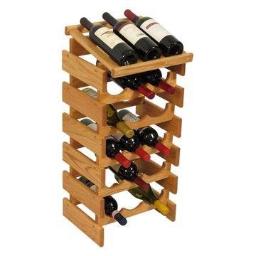 Dakota 18 Bottle Wine Rack with Display Top