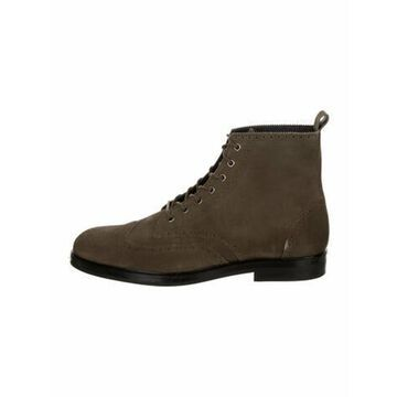 Suede Lace-Up Boots Green