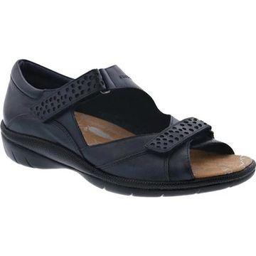 Drew Women's Bay Hook and Loop Sandal Navy Leather