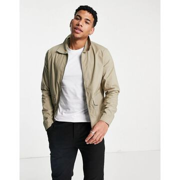 Selected Homme smart jacket in organic cotton beige - part of a set-Neutral