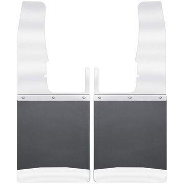 Husky Liners Kick Back Mud Flaps Front 12IN Wide - SSTop/Wt Fits 09-18 Ram 1500