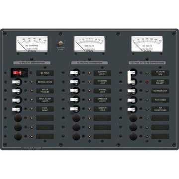 Blue Sea Systems 8084 AC Main and 6-Position/DC Main and 15-Position Circuit-Breaker Panel