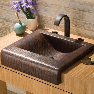 Palisades Antique Copper Apron Drop-in Bathroom Sink