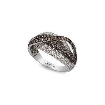 Chocolatier  14K Vanilla Gold  Vanilla Diamond  & Chocolate Diamond  Ring