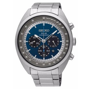 Seiko Men's SSC619 Solar Chronograph Stainless Steel Watch