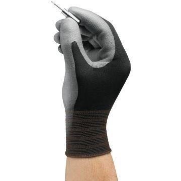 Ansell 11-600-7_BK HyFlex Nylon Polyurethane Gloves, Small, Size 7, 12 Pairs
