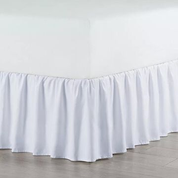 Martex Pleated Bedskirt, White, Queen