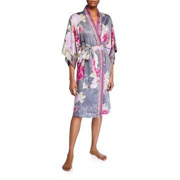 Fusion Floral-Print Robe