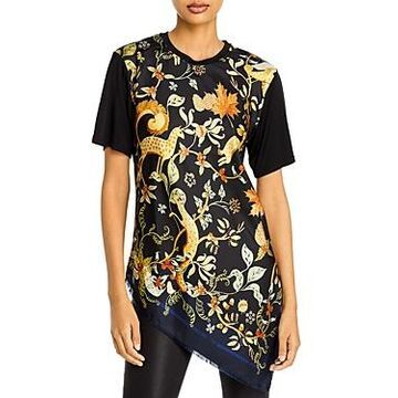 Lanvin Printed Asymmetrical Top
