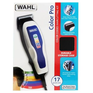 WAHL 9155 700 WHITE HAIRCUTTING KIT 17PC COLOR CODED BLADES