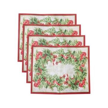 Elrene Holly Traditions Holiday Placemats, Set of 4