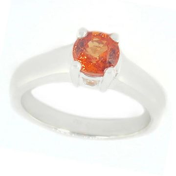 Michael Valitutti Stering Silver Spessartite Garnet Ring