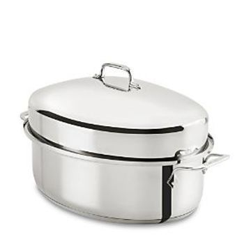 All Clad Stainless Steel Covered Oval Roaster