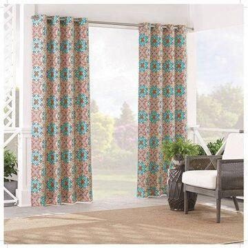 Waverly Sun n Shade Astrid Light Filtering Grommet Top Single Curtain Panel, Peachtini, 52 x 84